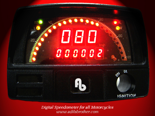 Digital Speedometer for all Motorbikes