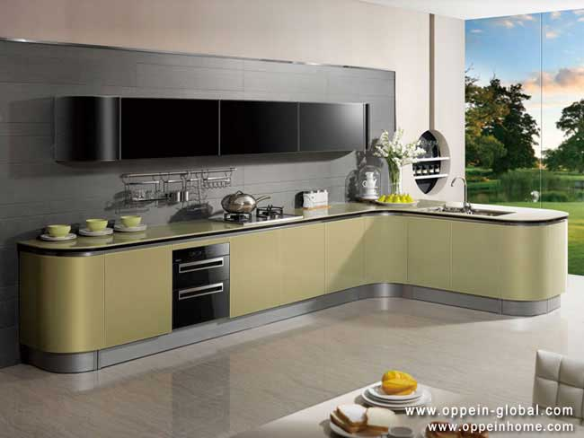 Acrylic kitchen cabinet by oppein home group inc for Kitchen units in zambia