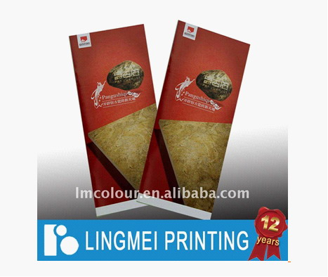 Glossy Brochure Printing House With Offset Printing