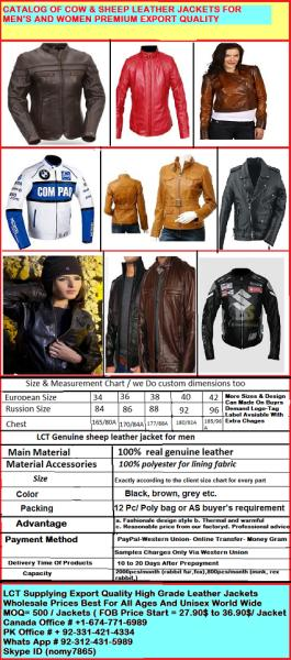 Leather Jackets Products Manufacturers Suppliers Exporters