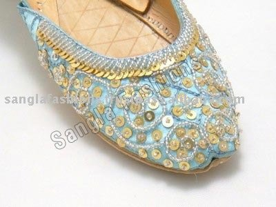 beaded embroidered khussa shoes by sangla exports