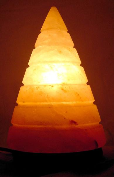 Ukraine Salt Lamps : Himalayan Salt Cone Shape Lamp by Al-Azeem Enterprises