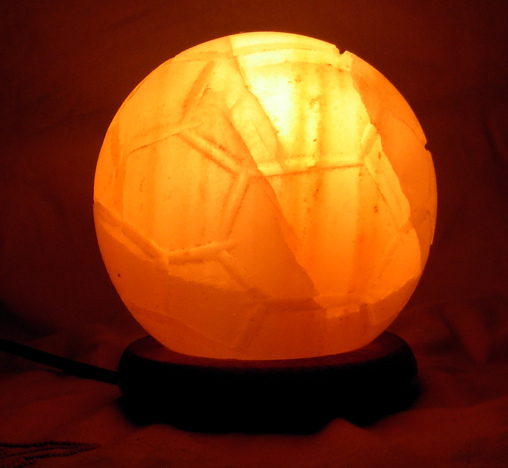Ukraine Salt Lamps : Himalayan Salt Foot Ball Shape Lamp by Al-Azeem Enterprises