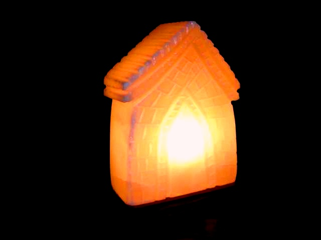 Ukraine Salt Lamps : Himalayan Salt House Shape Lamp by Al-Azeem Enterprises