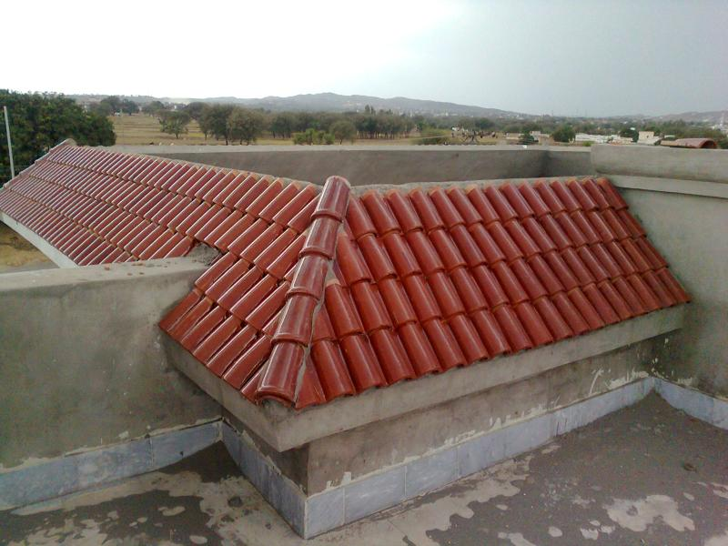 Spanish glazed roof tile by nawaz clay industry for Spanish clay tile roof