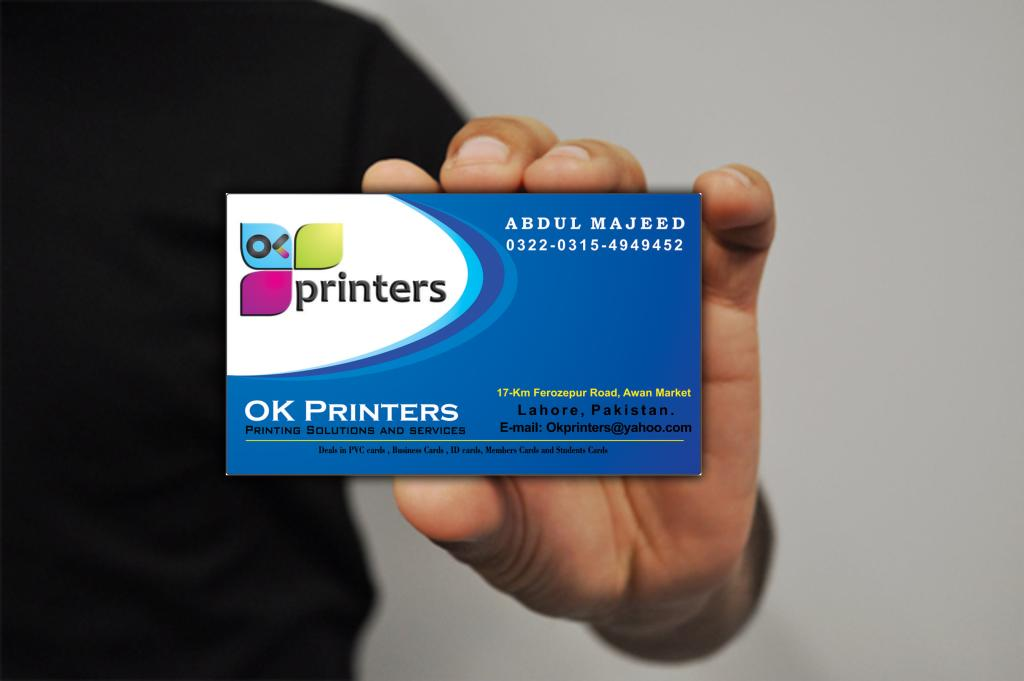 Plastic visiting cards same as ATM cards by OK printers