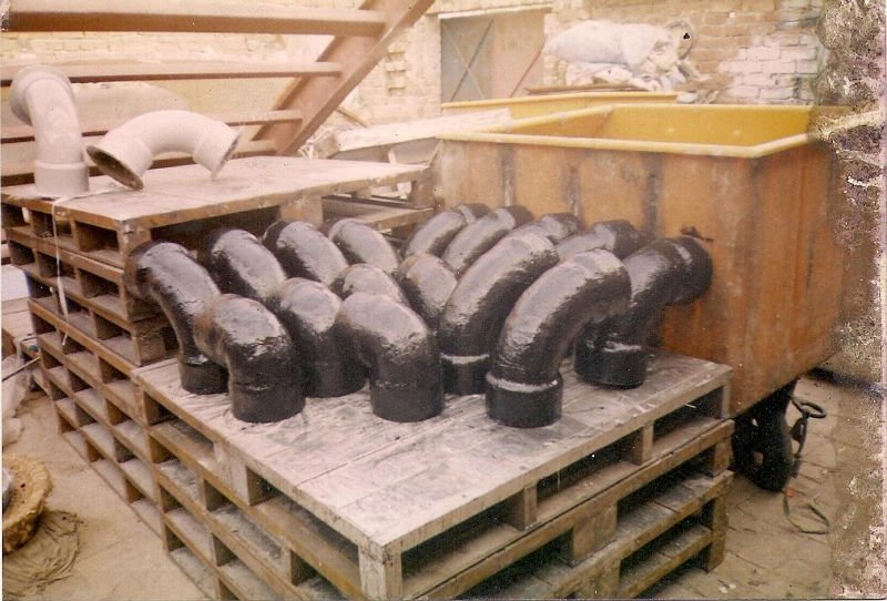 Fiberglass pipe fittings by industrial techno international