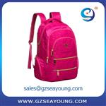 Top quality strong kids rolling trolley school backpack