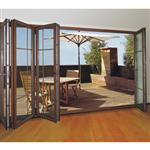 Wood Grain Grill Aluminium Bi-folding Door