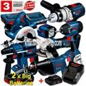 Bosch 18V Lithium-Ion 7Pce Cordless Combination Kit