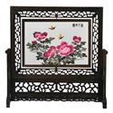 Chinese double-sided hand embroidery table screen home decor