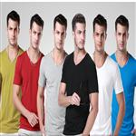 multi color v neck plain custom t shirt printing