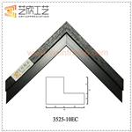 Black And White Quality Picture Frames L Shape Painting Frame Moulding 3525