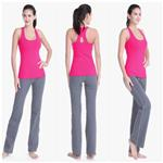 wholesale fashionable workmanship 100% cotton yoga pants