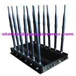 12 antennas cell phone jammer blcoking all signals/RF Jammer