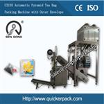 Ultrasonic Sealed Pyramid Nylon Tea Bag Packing Machine with Outer Envelope