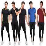clothing manufacturer nylon spandex fitness knitted compression custom wholesale comfort colors plain t-shirts