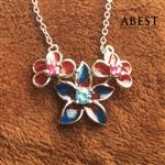 Fashion 925 Sterling Silver Dragonfly Shape Color Enamel Pendant Gift Design