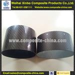 supply large diameter 3k weave carbon fiber muffle