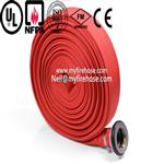 colorful fire resistant PVC hose manufacturers from china,used for fire hose reel with nozzle,Soft Hose woven in twill