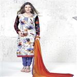 Stylish Colorful Abstract Print Salwar Suit 14009a