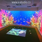 Interactive floor projection by v-studio